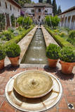 Spain, Granada. Patio de la Acequia at Generalife. Photographic Print by Julie Eggers