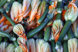 Squash blossoms, Hollywood Farmer's Market, Los Angeles,  California Photographic Print by Kymri Wilt