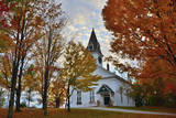 Meeting House at Sugar Hill, New Hampshire, USA Photographic Print by Michel Hersen