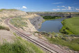 USA, Montana, Chouteau County, view of Missouri River. Photographic Print by Jamie & Judy Wild