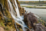 Water falls on small stream flowing into Snake River, Idaho, USA Photographic Print by Larry Ditto