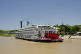 USA, Mississippi, Vicksburg. American Queen cruise paddlewheel boat. Photographic Print by Cindy Miller Hopkins