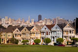 The Painted Ladies and San Francisco skyline beyond, California, USA Photographic Print by Brian Jannsen