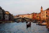 Italy, Venice, Grand Canal with View of Rialto Bridge. Photographic Print by Terry Eggers