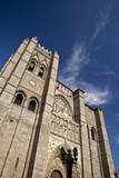 Spain, Castilla y Leon Region, Avila. Avila Cathedral detail. Photographic Print by Julie Eggers