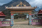 Entrance to Tengboche Monastery, Nepal. Photographic Print by Lee Klopfer