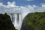 Victoria Falls and Zambezi River, Zimbabwe/Zambia border, Africa Photographic Print by David Wall