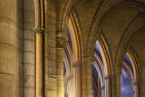 Arches and ceiling details in Cathedral Notre Dame, Paris, France. Photographic Print by Brian Jannsen