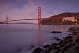 Early morning below the Golden Gate Bridge, Sausalito, California, USA Photographic Print by Brian Jannsen