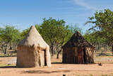 Himba village, Kaokoveld, Namibia. Photographic Print by Nico Tondini