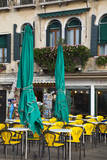 Italy, Venice, Sidewalk Dinning Near San Marco Square. Photographic Print by Terry Eggers