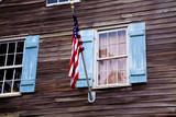 USA, Georgia, Savannah, Flag on an old building. Photographic Print by Joanne Wells