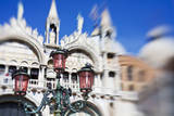 Selective Focus of Light Poles with San Maro Basilica. Photographic Print by Terry Eggers
