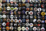 Buttons at Amoeba Music Store, Hollywood, Los Angeles, California, USA Photographic Print by Kymri Wilt