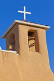 USA, New Mexico, Taos. Top of San Francisco de Asis adobe church. Photographic Print by Fred Lord