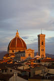 Italy, Florence, Main Duomo with evening's last light. Photographic Print by Terry Eggers