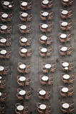 View from Above of Dinning Tables ready for Customers to Arrive. Photographic Print by Terry Eggers