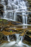 USA, Pennsylvania, Benton. Waterfall in Ricketts Glen State Park. Photographic Print by Jay O'brien