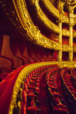 Theatre seating inside Palais Garnier Opera House, Paris, France. Photographic Print by Brian Jannsen