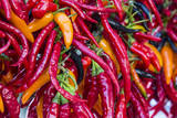 Hot chili peppers at Farmers Market in Madison, Wisconsin, USA Photographic Print by Chuck Haney