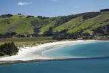 Otago Harbor and Aramoana Beach, Dunedin, Otago, New Zealand. Photographic Print by David Wall