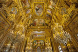 Ceiling of the Grand Foyer, Palais Garnier Opera House, Paris, France. Photographic Print by Brian Jannsen