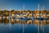 Autumn morning in the Camden harbor, Camden, Maine, USA Photographic Print by Brian Jannsen