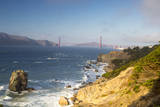 Golden Gate bridge from Lands End in San Francisco, California, USA Photographic Print by Chuck Haney