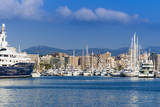 Palma de Mallorca harbor, Majorca, Balearic Islands, Spain. Photographic Print by Nico Tondini