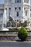 Spain, Madrid. Plaza de Cibeles with Fuente de Cibele. Photographic Print by Julie Eggers