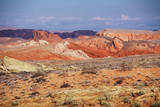 USA, Nevada, Overton, Valley of Fire SP, Rainbow Vista sandstone. Photographic Print by Bernard Friel