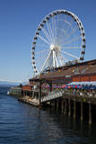 USA, Washington, Seattle, The Seattle Great Wheel on the waterfront. Photographic Print by Jamie & Judy Wild