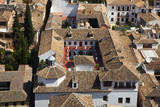 Rooftops of the town of Granada seen from the Alhambra, Spain. Photographic Print by Julie Eggers