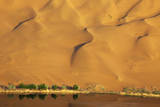 Desert reflection. Badain Jaran Desert, Inner Mongolia, China. Photographic Print by Ellen Anon