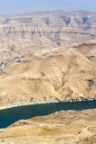Wadi Al Mujib Dam and lake, Jordan. Photographic Print by Nico Tondini