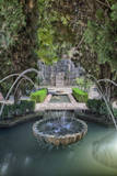 Spain, Granada. A Fountain in the gardens of the Alhambra Palace. Photographic Print by Julie Eggers