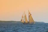 Rockland, Maine, USA Windjammer Schooner called the Mary Day. Fotodruck von Bill Bachmann