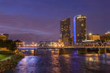Skyline at dusk, Grand Rapids, Michigan, USA Photographic Print by Randa Bishop