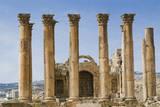 The Temple of Artemis, Jerash, Jordan. Once the Roman city of Gerasa. Photographic Print by Nico Tondini
