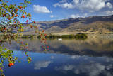 Lake Dunstan and Pisa Range, Central Otago, South Island, New Zealand Photographic Print by David Wall