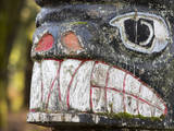USA, Washington, Olalla. Detail of a totem pole. Photographic Print by Don Paulson