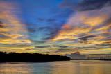 USA, Georgia, Savannah, Sunrise along Savannah River. Photographic Print by Joanne Wells