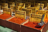 Spain, Granada. Spices for sale at an outdoor market in Granada. Photographic Print by Julie Eggers
