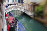 Selective Focus of Gondolas on a back canal ready for customers. Photographic Print by Terry Eggers