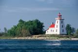 Canada, Ontario, Lake Huron, Strawberry Island Lighthouse. Photographic Print by Bernard Friel
