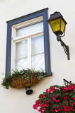 Canada, Quebec, Quebec City, Old Town window with flowers. Photographic Print by Jamie & Judy Wild