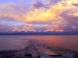 USA, Montana. Sunset over Flathead Lake. Photographic Print by Steve Terrill