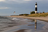 Big Sable Point Lighthouse on Lake Michigan, Ludington SP, Michigan Stampa fotografica di Chuck Haney