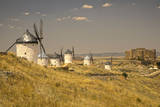 Spain, Toledo Province, Consuegra. La Mancha windmills. Photographic Print by Julie Eggers