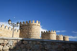 Spain, Castilla y Leon. Scenic medieval city walls of Avila. Photographic Print by Julie Eggers